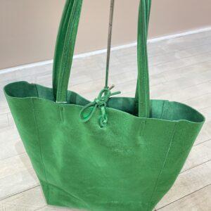 Shopper Groen Leer
