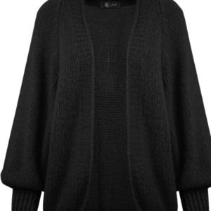 Vest zwart met pofmouwtje