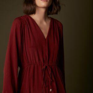 Bordeaux jurk Meisie