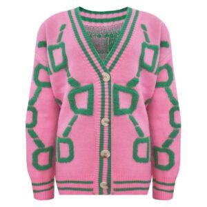 Baseball vest Roze-groen